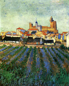 Art Prints of View of Saintes Maries by Vincent Van Gogh