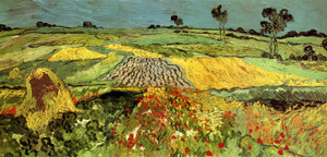 Art Prints of Wheatfield, 1890 by Vincent Van Gogh