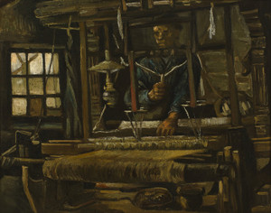 Art Prints of A Weaver's Cottage by Vincent Van Gogh