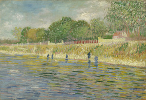 Art Prints of Bank of the Seine by Vincent Van Gogh