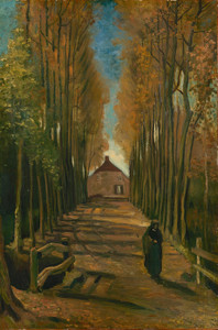 Art Prints of Avenue of the Poplars in Autumn by Vincent Van Gogh