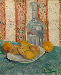 Art Prints of Carafe and Dish with Citrus Fruit by Vincent Van Gogh
