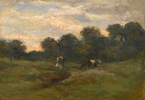 Art Prints of Cows in the Meadow, 1883 by Vincent Van Gogh