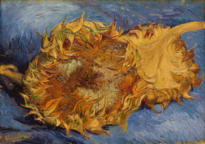 Art Prints of Cut Sunflowers by Vincent Van Gogh