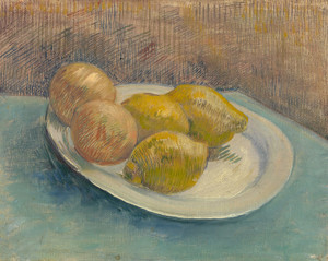 Art Prints of Dish with Citrus Fruit by Vincent Van Gogh
