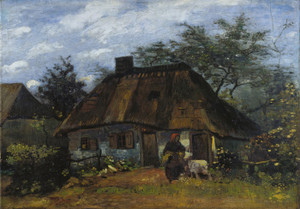 Art Prints of Farmhouse in Nuenen by Vincent Van Gogh