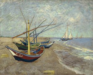 Art Prints of Fishing Boats on the Beach II by Vincent Van Gogh