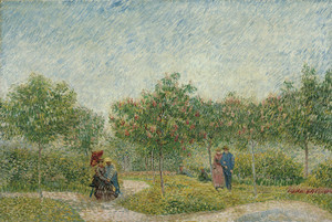 Art Prints of Garden in Montmarte with Lovers by Vincent Van Gogh
