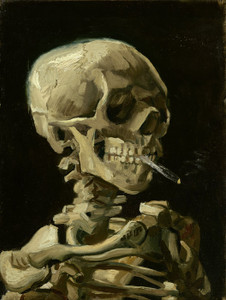Art Prints of Head of a Skeleton with a Burning Cigarette by Vincent Van Gogh