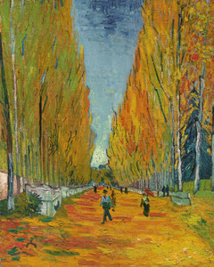 Art Prints of L'Allee des Alyscamps by Vincent Van Gogh