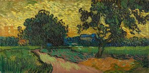 Art Prints of Landscape at Twilight by Vincent Van Gogh