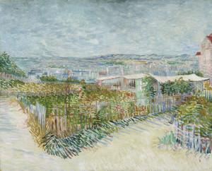 Art Prints of Montmartre Behind the Moulin de la Galette by Vincent Van Gogh
