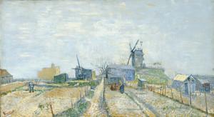Art Prints of Montmartre Mills and Vegetable Gardens by Vincent Van Gogh