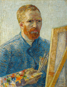 Art Prints of Self Portrait as a Painter I, 1888 by Vincent Van Gogh