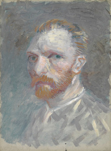 Art Prints of Self Portrait in Gray, 1887 by Vincent Van Gogh