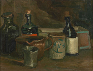 Art Prints of Still Life with Bottles and Earthenware by Vincent Van Gogh