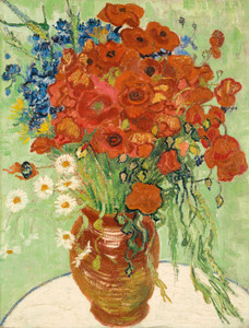 Art Prints of Still Life, Vase with Daisies and Coquelicots by Vincent Van Gogh