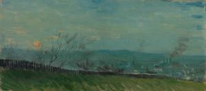 Art Prints of Sunset in Montmartre by Vincent Van Gogh