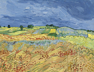 Art Prints of The Fields or Wheatfields by Vincent Van Gogh