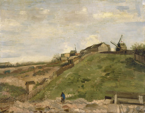 Art Prints of The Hill of Montmartre with Stone Quarry I by Vincent Van Gogh