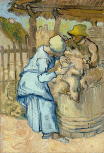 Art Prints of The Sheep Shearer (after Millet) by Vincent Van Gogh
