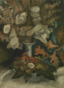 Art Prints of Vase with Honesty by Vincent Van Gogh