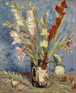 Art Prints of Vase with Gladioli and China Asters by Vincent Van Gogh