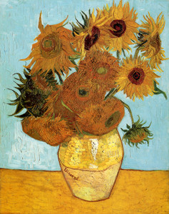 Art Prints of Vase with Twelve Sunflowers, 1888 by Vincent Van Gogh