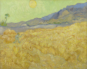 Art Prints of Wheatfield with a Reaper by Vincent Van Gogh