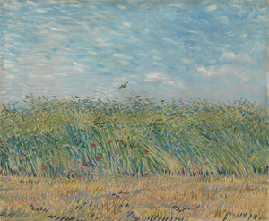 Art Prints of Wheatfield with Partridge by Vincent Van Gogh