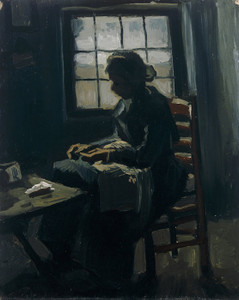 Art Prints of Woman Sewing by Vincent Van Gogh