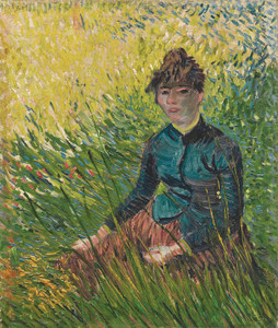 Art Prints of Woman Sitting in the Grass by Vincent Van Gogh