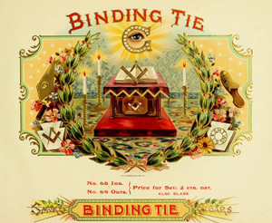 Art Prints of Binding Tie Cigars, Vintage Cigar Label