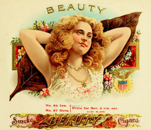 Art Prints of Beauty Cigars, Vintage Cigar Label