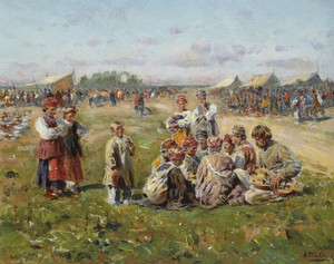 Art Prints of The Village Fair by Vladimir Egorovich Makovsky