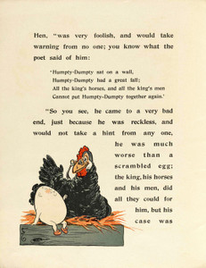 Art Prints of Humpty Dumpty, Page 4 by W.W. Denslow, Children's Book