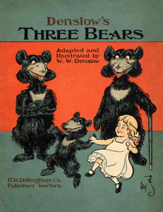 Art Prints of The Three Bears, Cover by W.W. Denslow, Children's Book