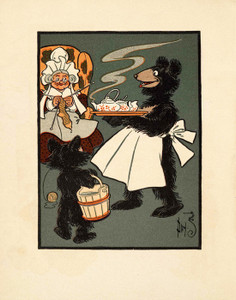 Art Prints of The Three Bears, Page 8 by W.W. Denslow, Children's Book