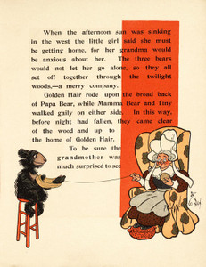 Art Prints of The Three Bears, Page 9 by W.W. Denslow, Children's Book