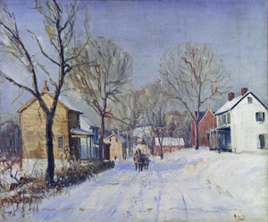 Art Prints of Carversville in Winter by Walter Baum