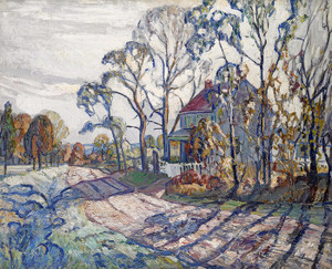 Art Prints of House, Road and Trees by Walter Baum