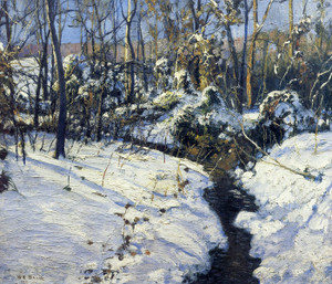 Art Prints of Winter Brook by Walter Baum