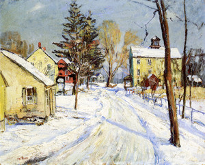Art Prints of Rural Road in Winter by Walter Baum