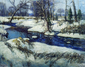 Art Prints of The Creek in Winter by Walter Baum