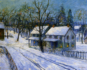 Art Prints of Winter Evening by Walter Baum