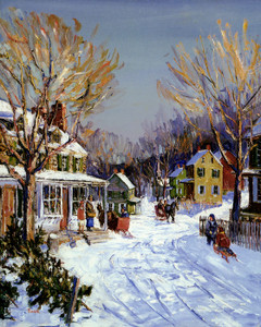 Art Prints of Winter in Carversville by Walter Baum