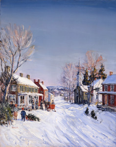 Art Prints of Pennsylvania Village in Winter, Carversville, 1931 by Walter Baum