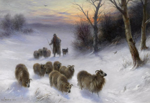 Art Prints of Gathering Strays by Walter Hunt