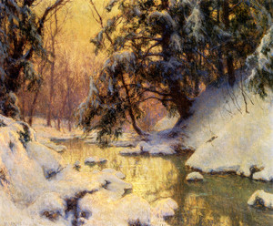 Art Prints of Brook and Hemlocks by Walter Launt Palmer