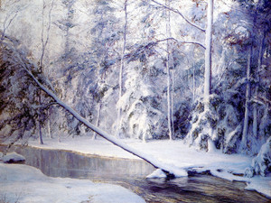 Art Prints of The Leaning Tree by Walter Launt Palmer